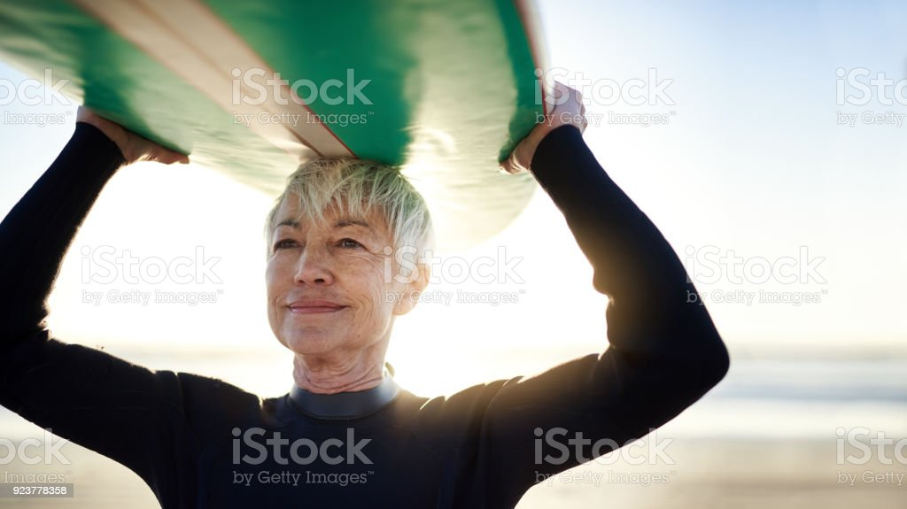 When in doubt, go surfing stock photo