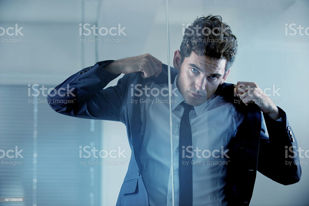 When in doubt, suit up stock photo