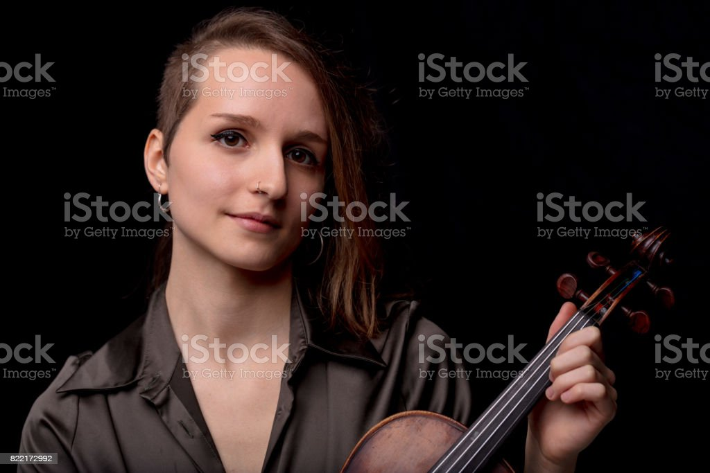 when it comes to music I'm serious stock photo
