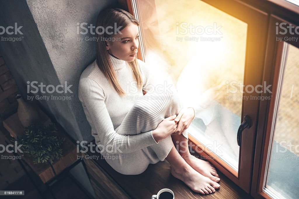 When it is rainy outside. stock photo