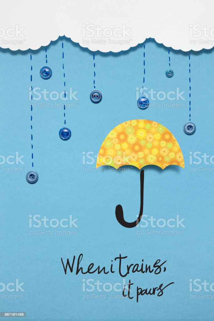 When it rains. stock photo