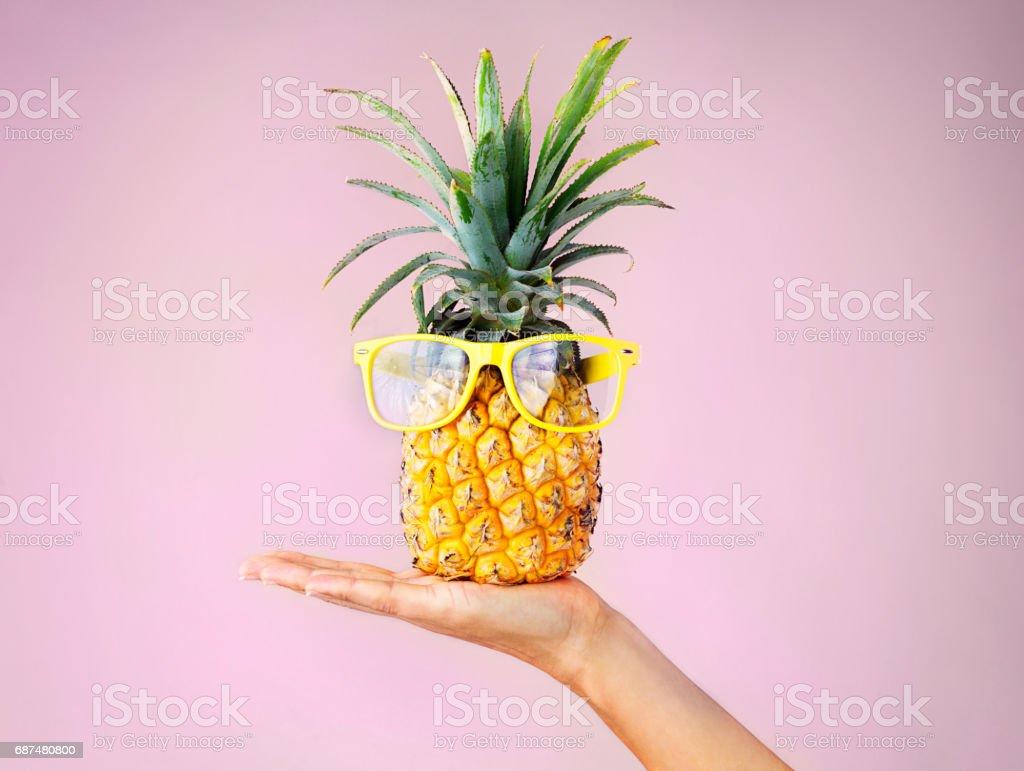 When life hands you pineapples make pina coladas stock photo