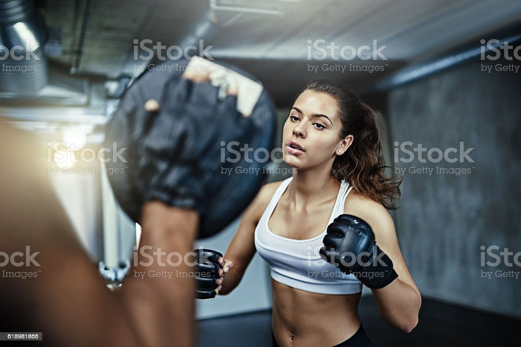 When life throws a punch at you, fight back stock photo