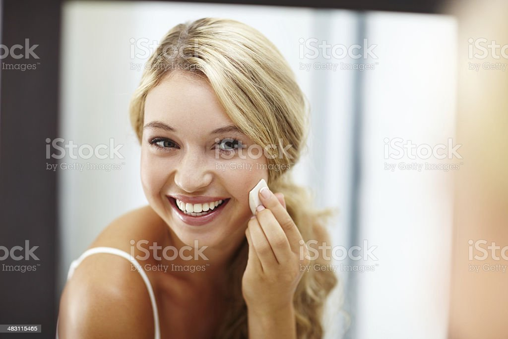 When my skin looks great I feel amazing stock photo