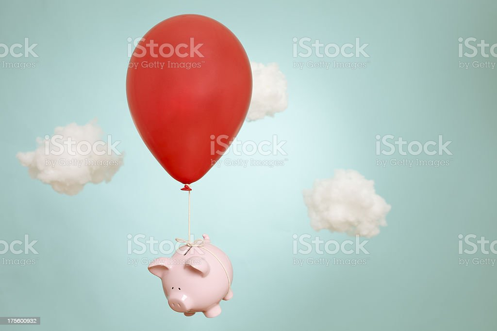 When piggy banks fly royalty-free stock photo