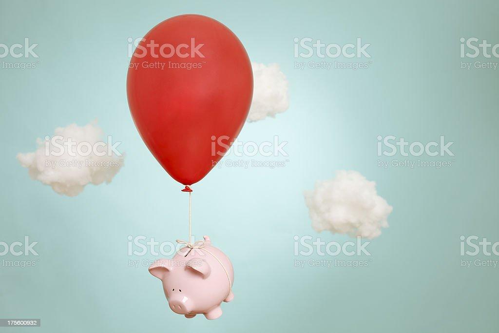 Cuando hucha bancos fly (Estacione y Vuele) - foto de stock