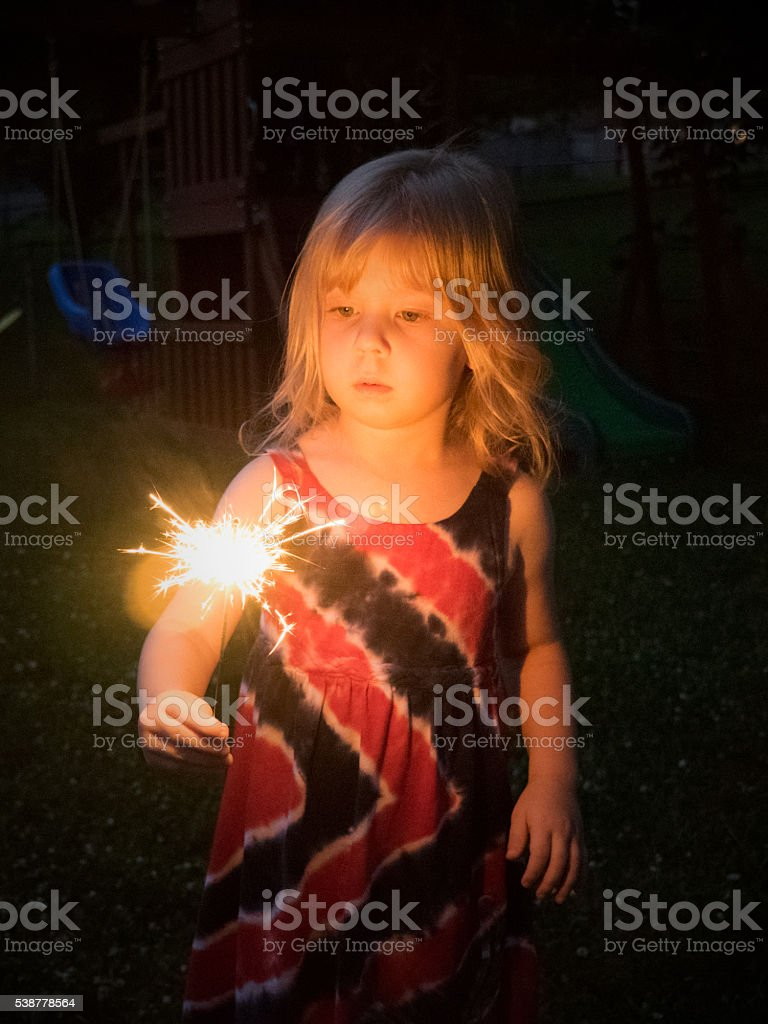 When Sparklers Were Cool stock photo