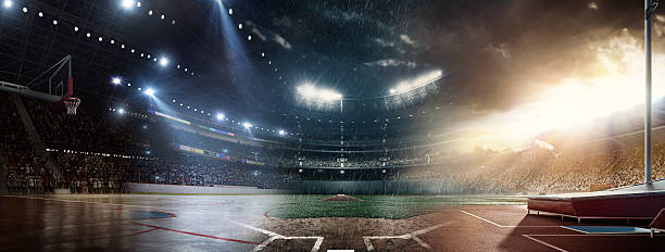 when sports meet each other - baseball sport stock photos and pictures