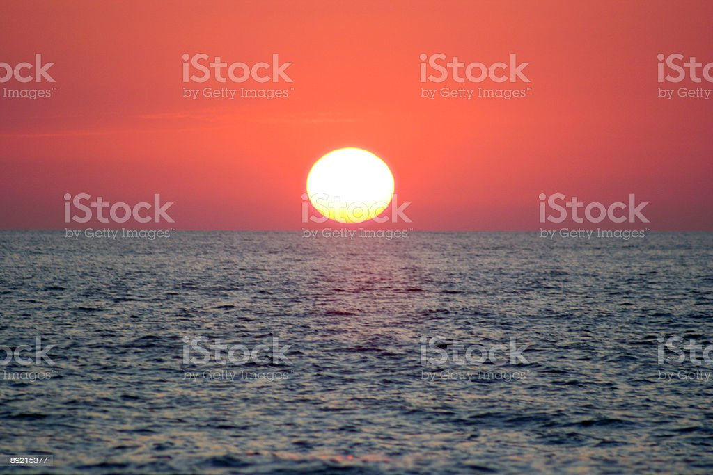When Sun Touch The Sea royalty-free stock photo