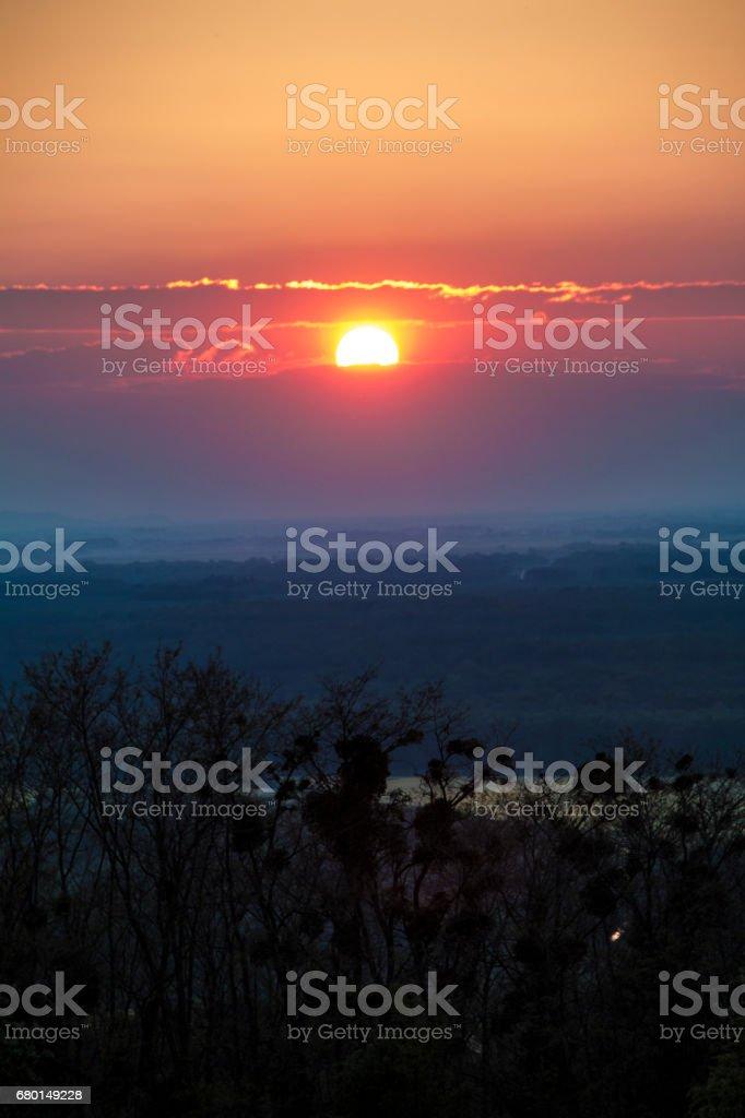 When te sun goes down stock photo