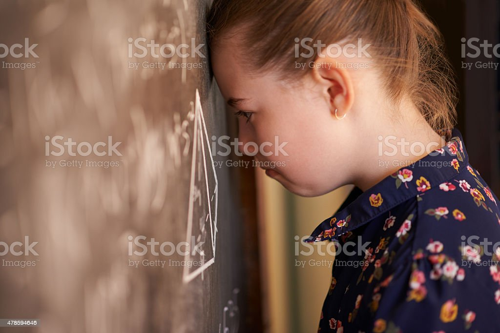 When the answers won't come to you... stock photo