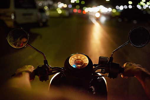 When the sun goes down his bike comes out