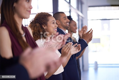 istock When the team hits a homerun, everyone cheers 653383308