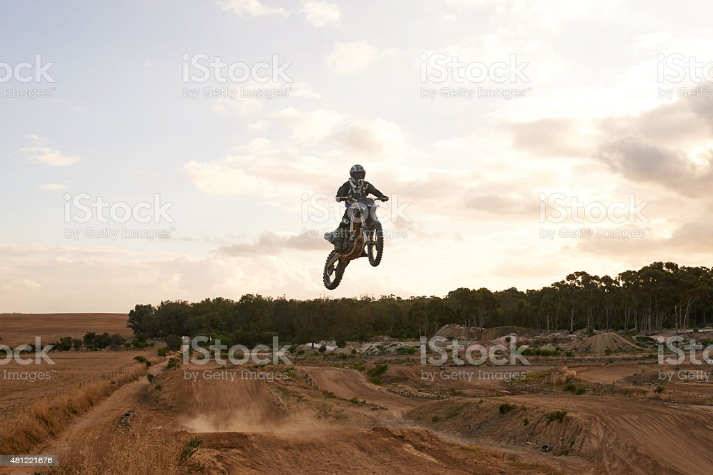 When they ground gets rough...take it to the air stock photo