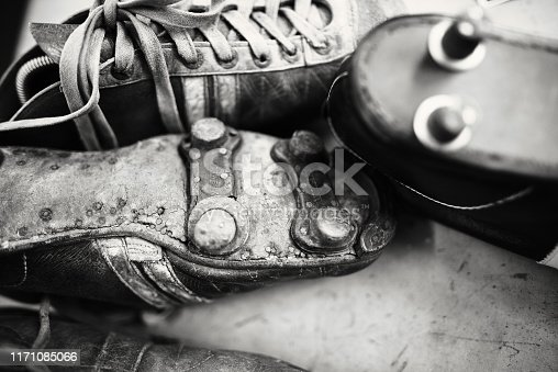 Old, soccer, boots, vintage, symbol, soccer shoe cleat