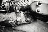 Old, soccer, boots, vintage, symbol, soccer shoe cleat