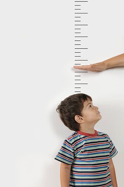 when will i grow up? - height measurement stock photos and pictures