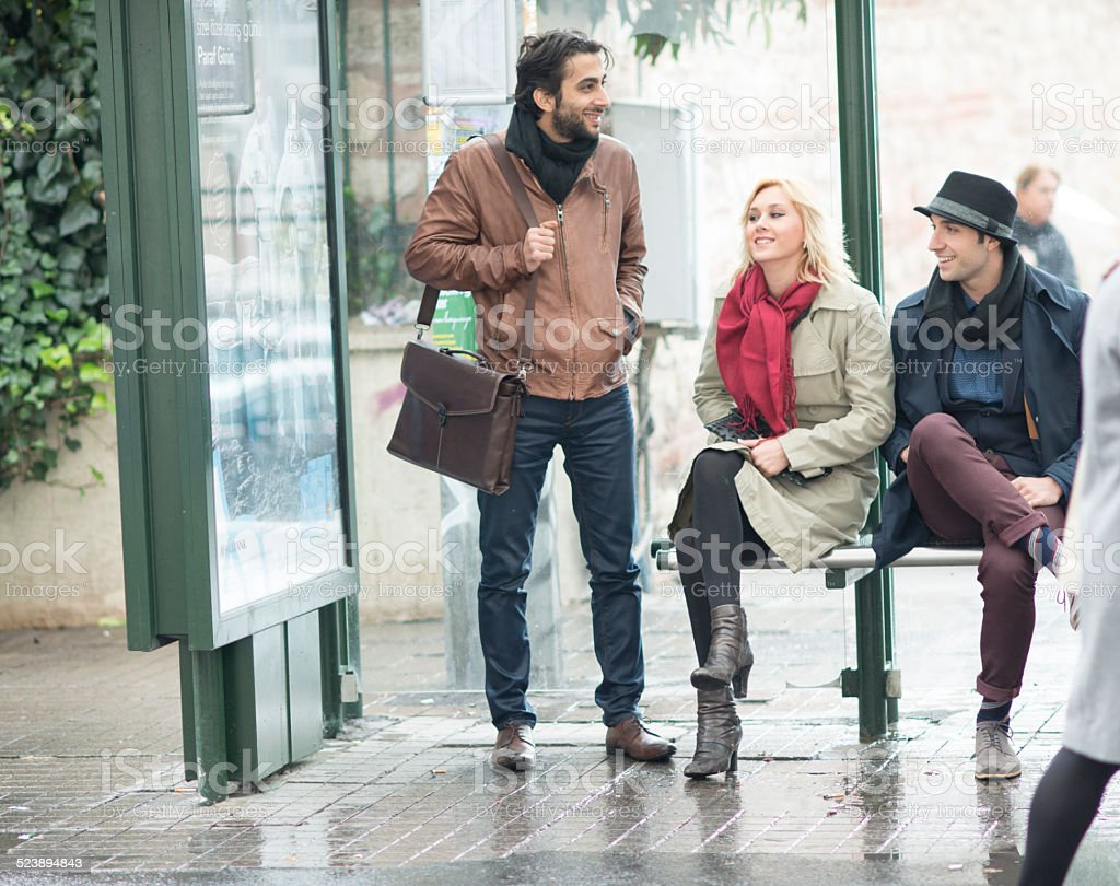 When Will The Bus Arrive stock photo