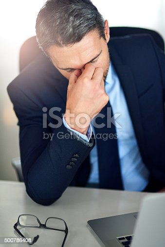 istock When work becomes a nightmare 500786408