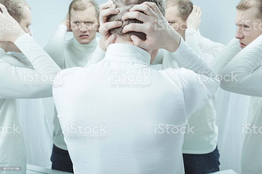 When you can's fight the problem stock photo