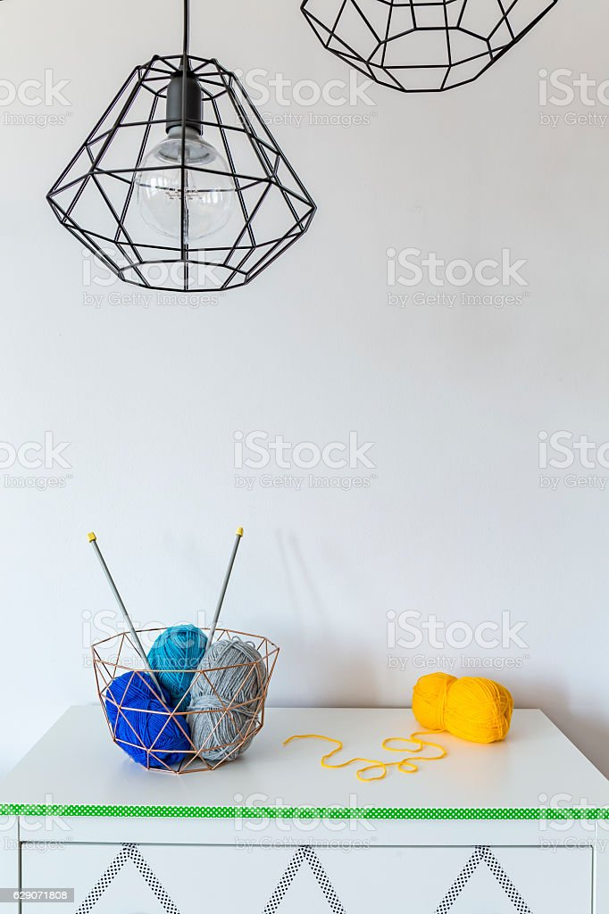 When you like worsted knitting stock photo