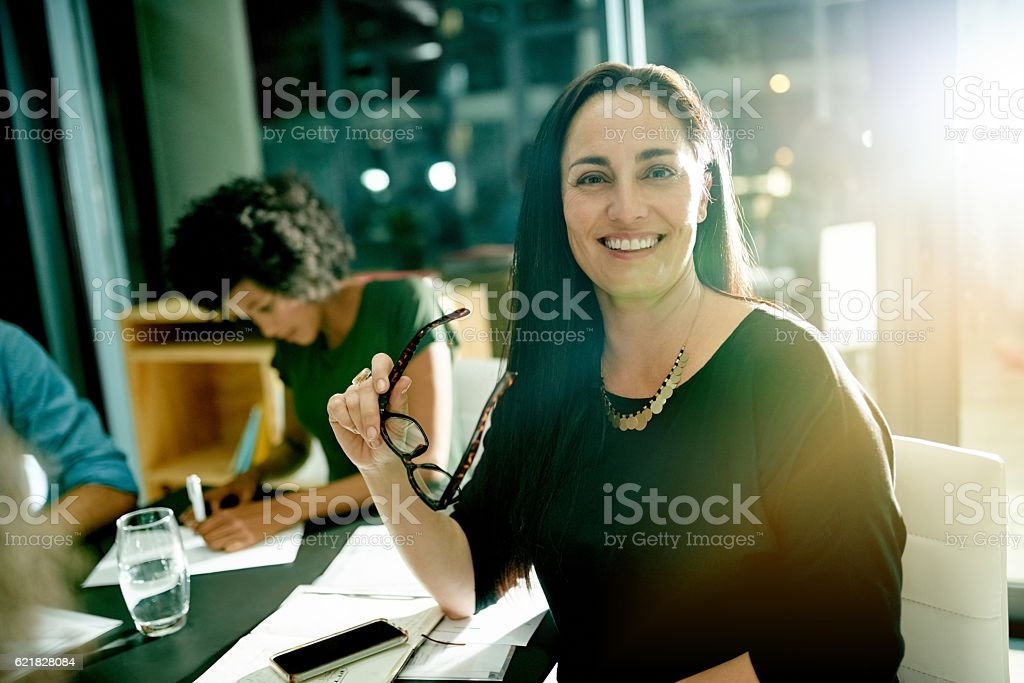 When you love your job, you put in the hours stock photo