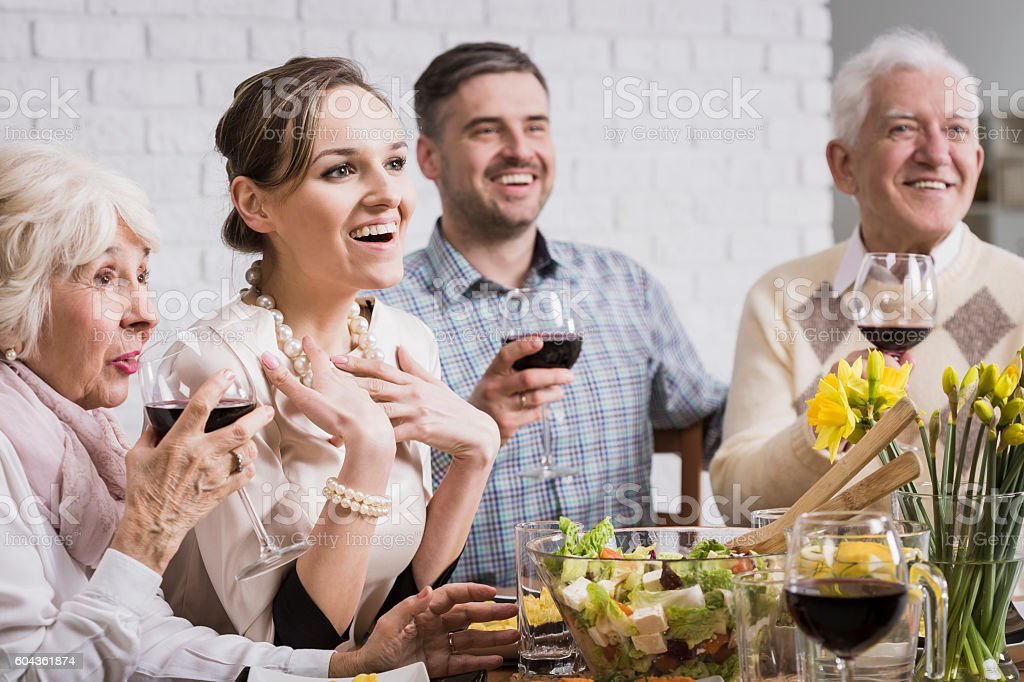 When you surprise pleasantly family stock photo