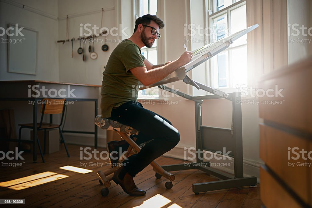 When you turn your art into a career stock photo