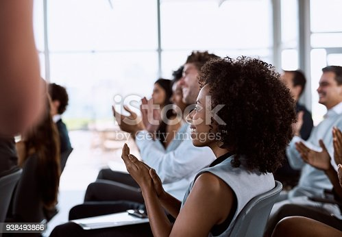 istock When your audience is sold, your presentation was gold 938493866