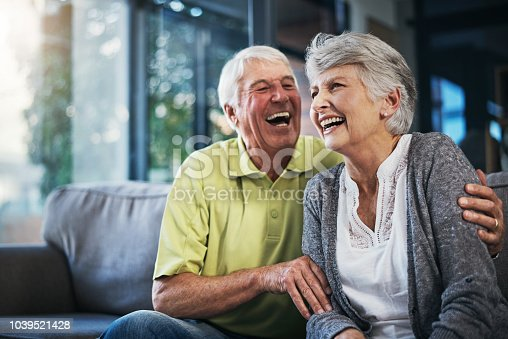 istock When you're laughing, you're living 1039521428