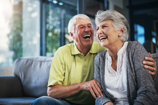when you're laughing, you're living - geriatrics stock pictures, royalty-free photos & images