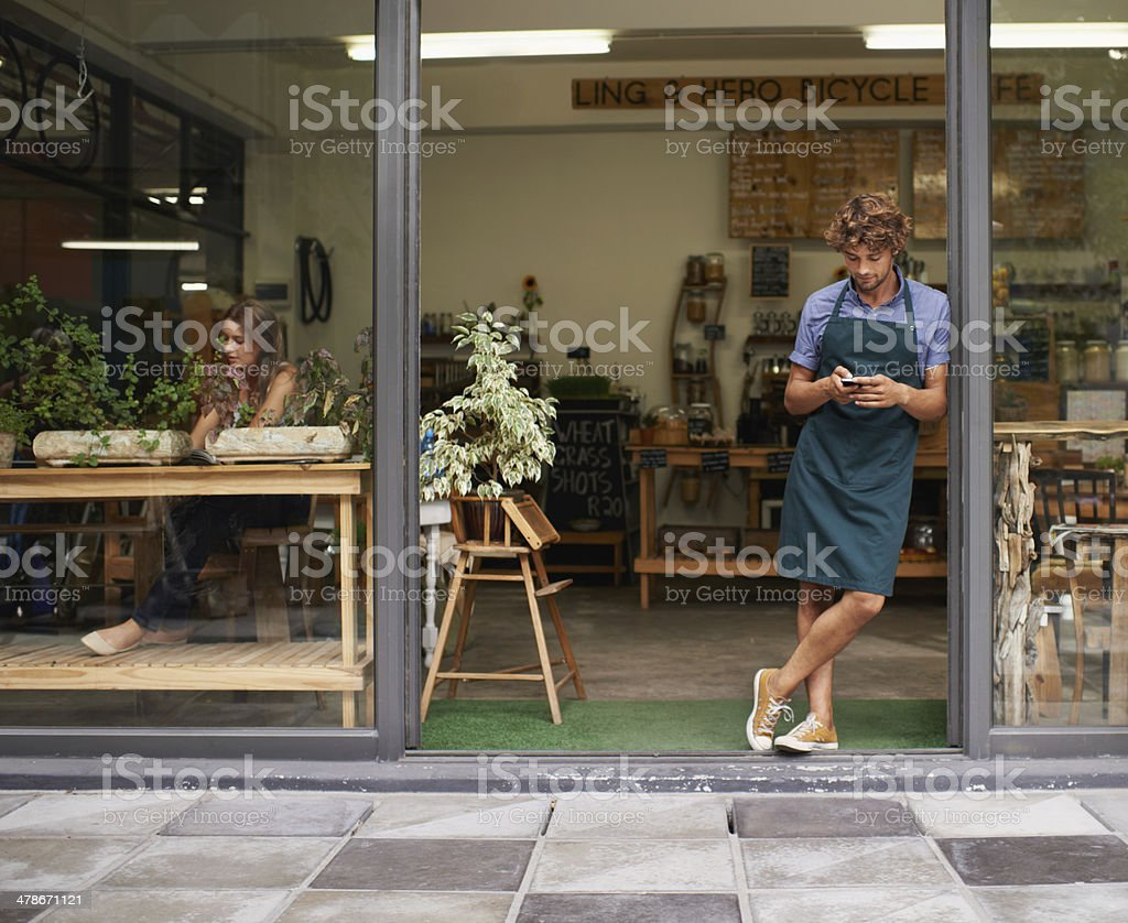 Where are all the customers? stock photo