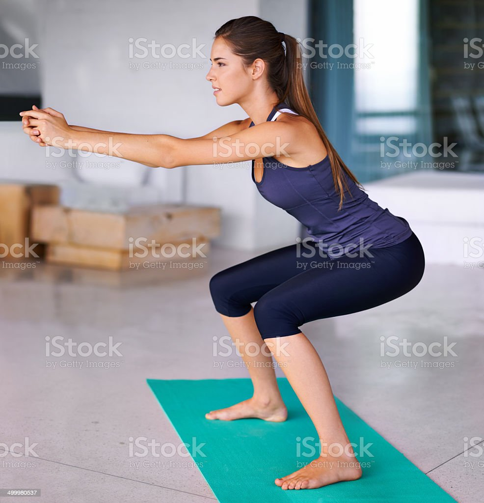 Where balance and strength meet stock photo