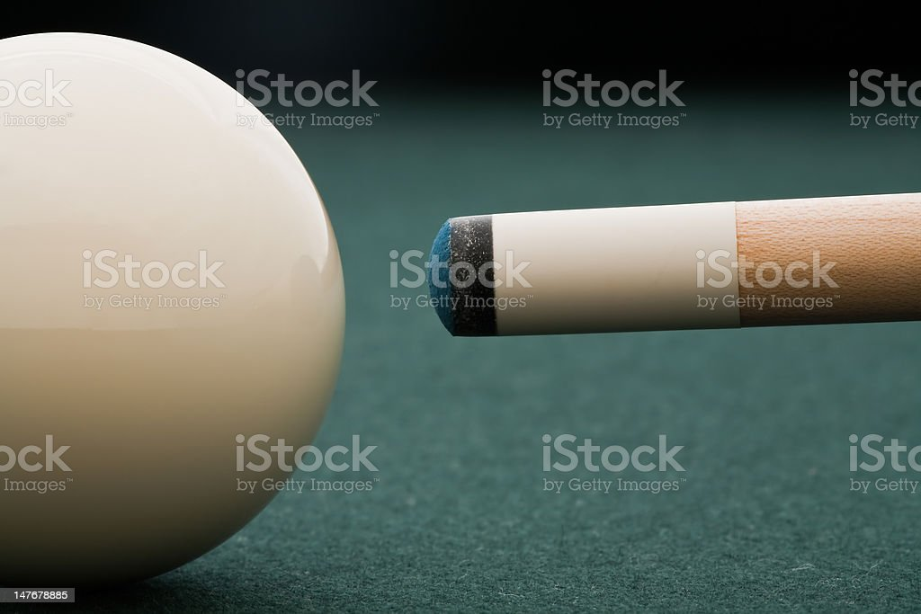 Where Chalk Meets The Cue stock photo