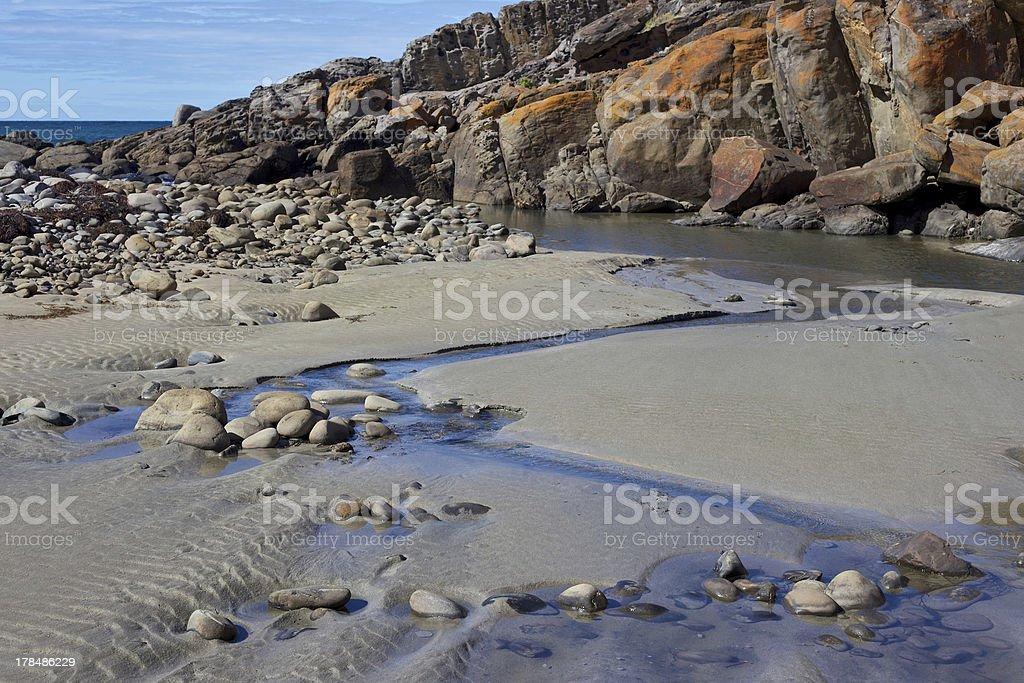 Where Deep Creek flows to the sea royalty-free stock photo