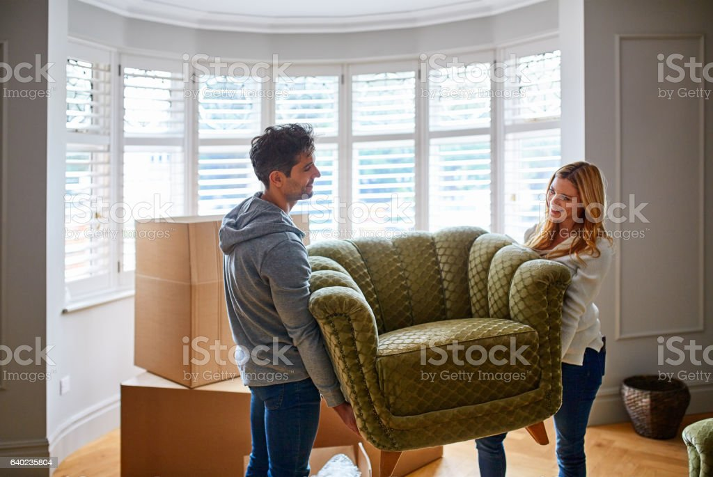 Where do we want to put this? stock photo