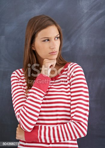 istock Where is everyone? I hope I'm in the right classroom 504368273