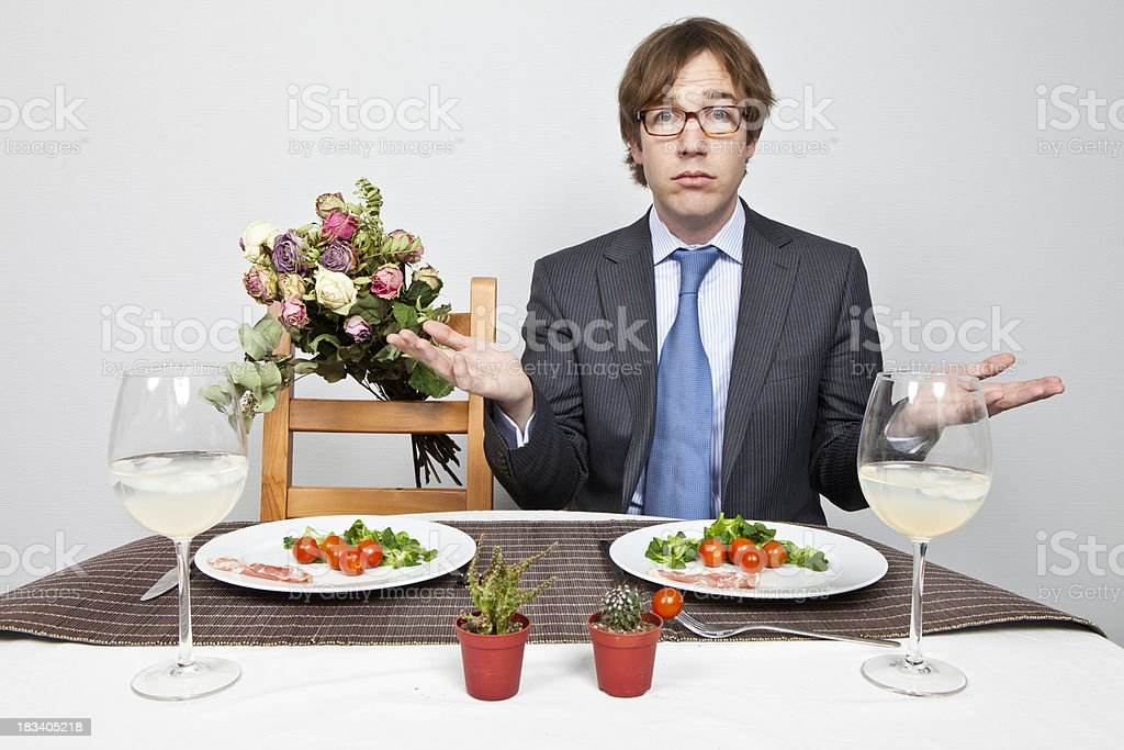Where is my date? stock photo