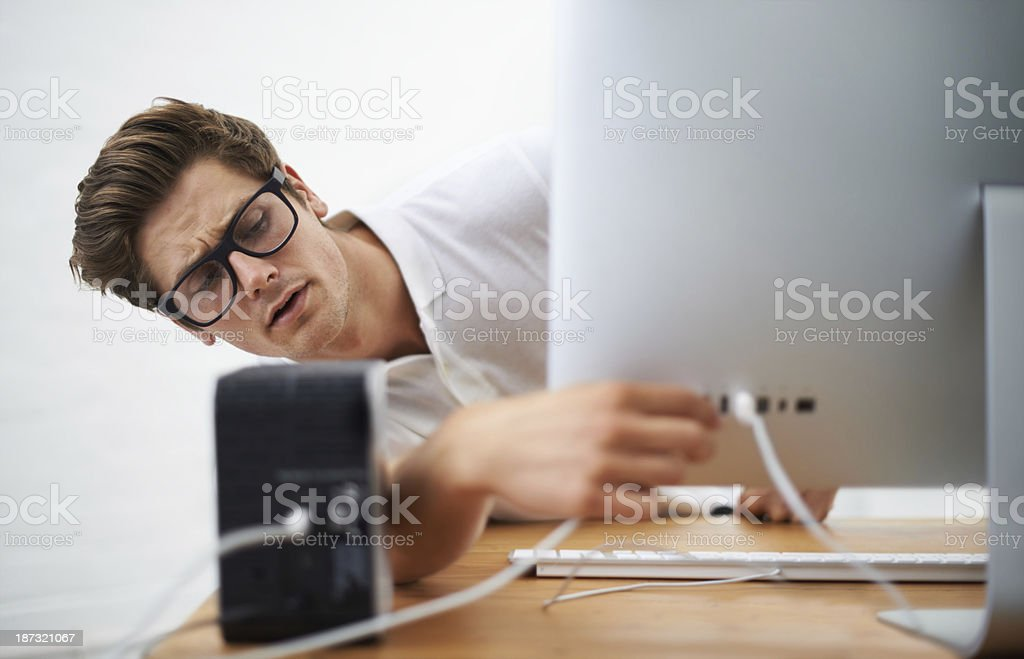 Where is that plug royalty-free stock photo
