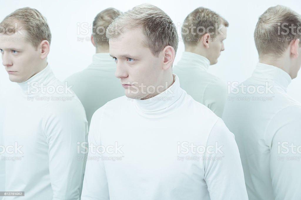 Where is the border between good and evil? stock photo