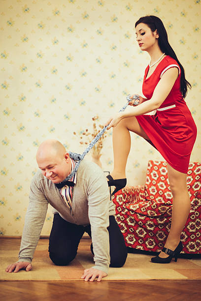 where is the love? - man dominating woman stock photos and pictures
