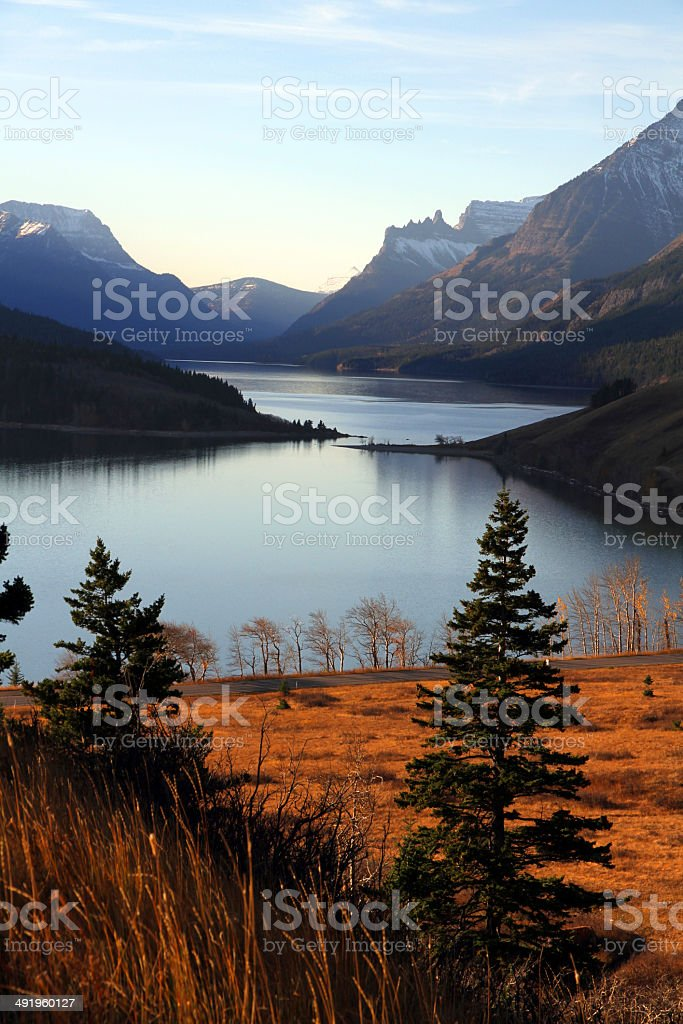 Where Lakes Meet stock photo