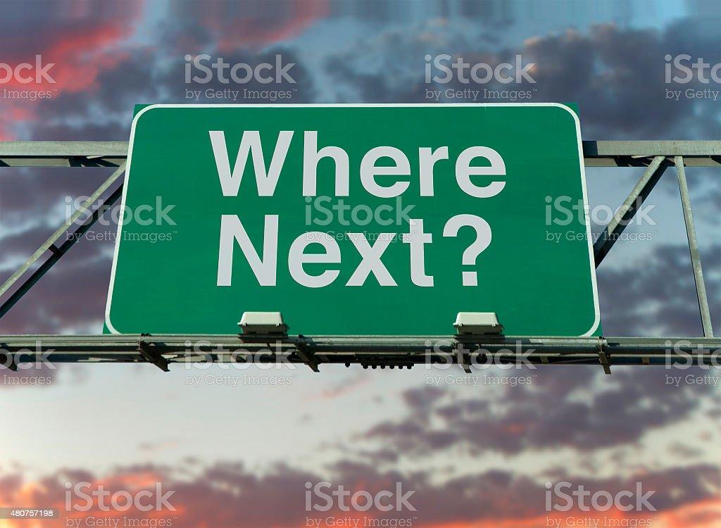 Where Next? stock photo