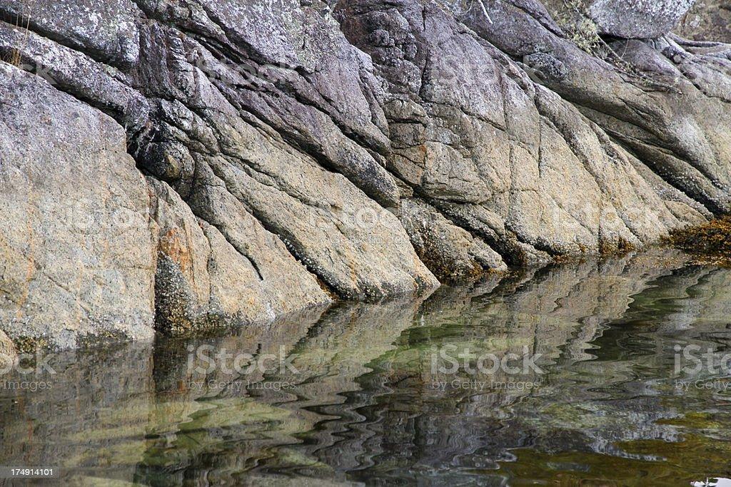 Where Rocks and Water Meet stock photo