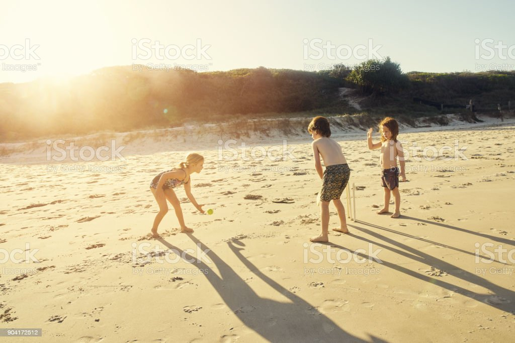 Where there's sun, there's fun stock photo
