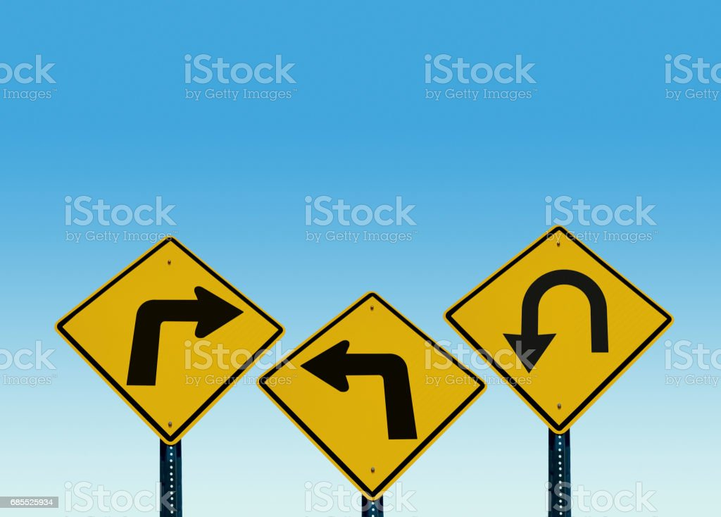 Where to turn? stock photo