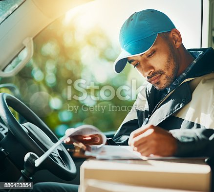 istock Where to with the next delivery? 886423854