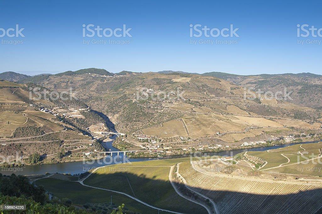 Where Tua river meet the Douro stock photo