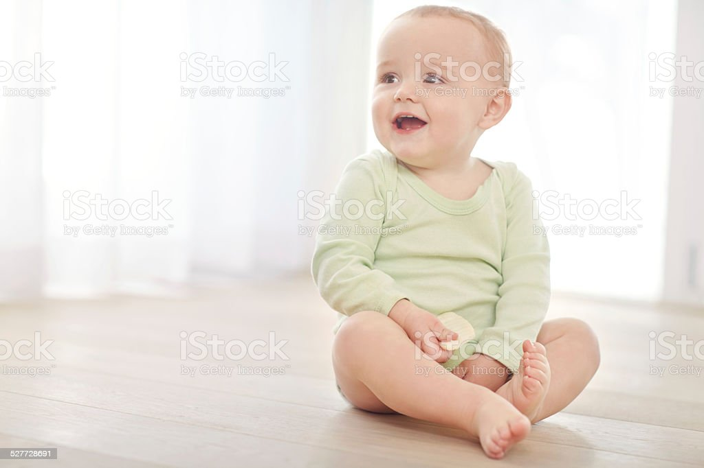 Where's mom? My diaper is calling stock photo