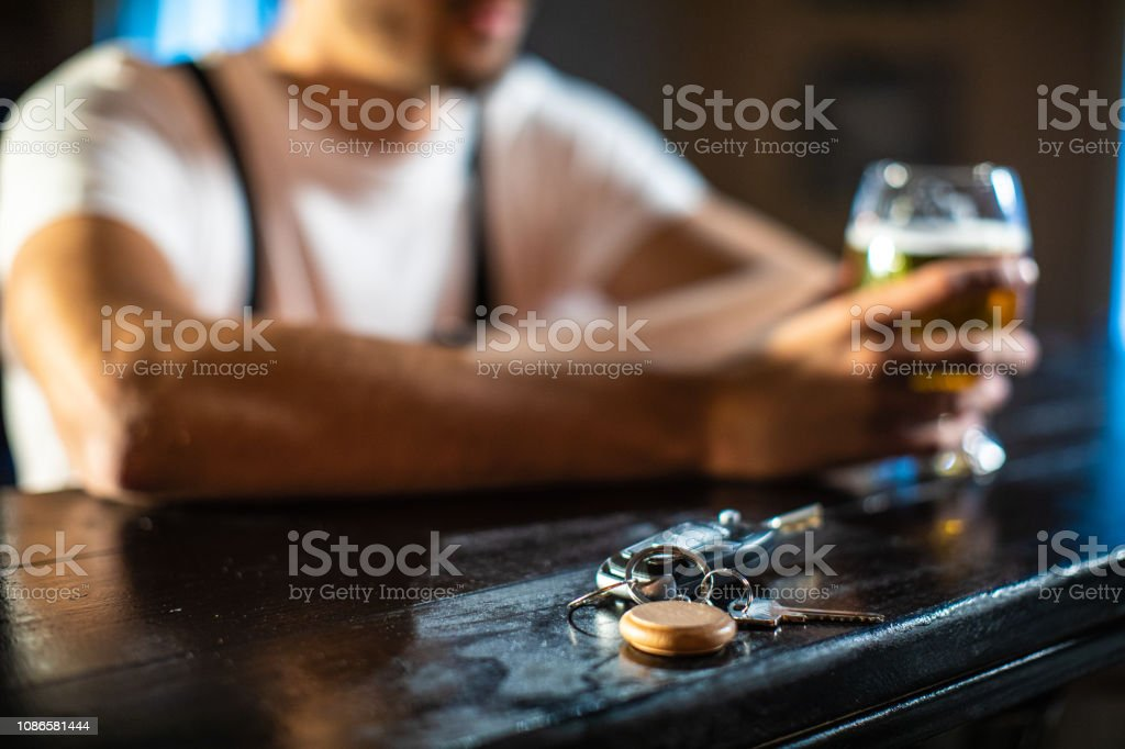 Whether to Drive Drunk or Not stock photo